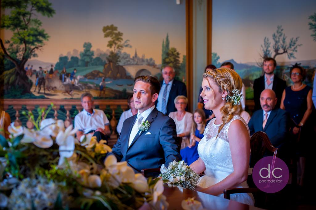 Hochzeitsfotografie - Trauung im Schloss Philippsruhe - Hochzeitsfotograf Hanau dc - photodesign